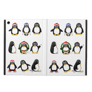 Cute, Funny and Crazy Cartoon Penguins Case For iPad Air