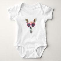 Cute funny animal antelope for baby/kids baby bodysuit