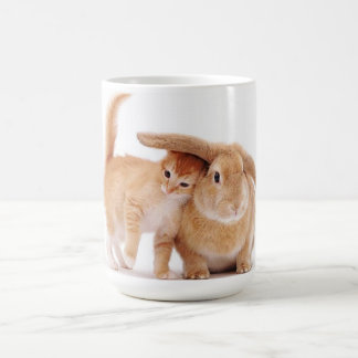 cute_funny_animals_8  kitten bunny rabbit friends coffee mug