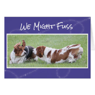 Cute & Funny Anniversary Card w/Basset Hounds
