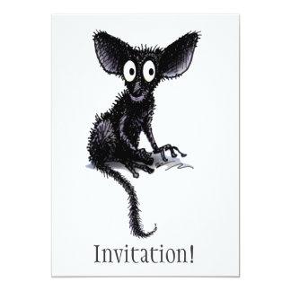 Cute Funny Aye-Aye 5x7 Paper Invitation Card