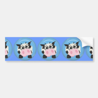 CUTE FUNNY BABY COW CALF BLACK WHITE PINK BLUE  FA BUMPER STICKERS