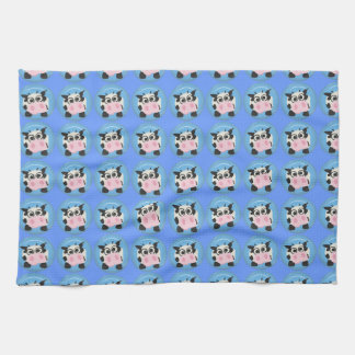 CUTE FUNNY BABY COW CALF BLACK WHITE PINK BLUE FA KITCHEN TOWELS