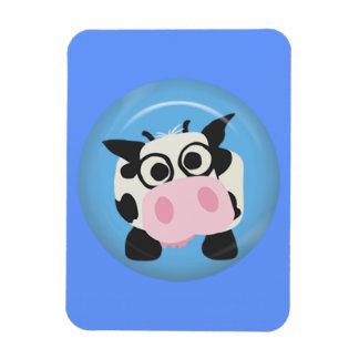 CUTE FUNNY BABY COW CALF BLACK WHITE PINK BLUE  FA MAGNET