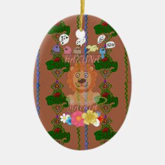 Cute funny Baby Lion King Hakuna Matata latest edg Ceramic Ornament