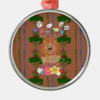 Cute funny Baby Lion King Hakuna Matata latest edg Metal Ornament