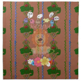 Cute funny Baby Lion King Hakuna Matata latest edg Napkin