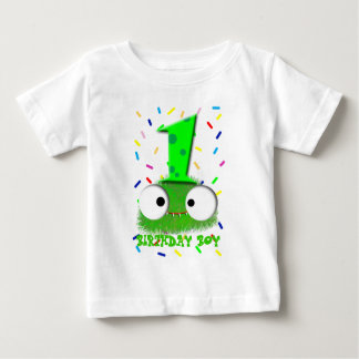 cute funny baby monster first birthday tshirt
