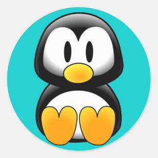 Cute Funny Baby Penguin Classic Round Sticker