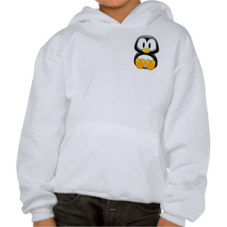 Cute Funny Baby Penguin Hooded Pullover