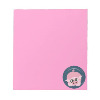 CUTE FUNNY BABY PIG PIGLET PINK BLUE  FARM CARTOON SCRATCH PAD