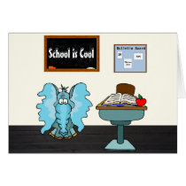 "Cute & Funny ""Back To School"" Card w/Elephant"