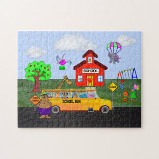 Cute & Funny Back To School Puzzle with Gift Box