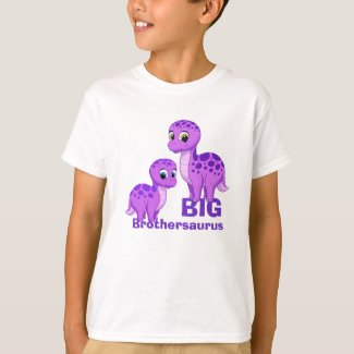 Cute Funny Big Brother Baby Dinosaurs Purple