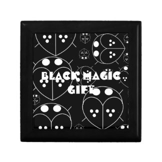 Cute funny BLACK LOVE BUG MAGIC Square Gift Box