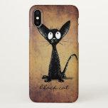 Cute Funny Black Oriental Cat Lover iPhone X Case