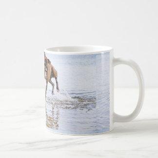 Cute funny boxer dog coffee mug