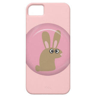 CUTE FUNNY BROWN PINK BUNNY CARTOON PETS ANIMALS H iPhone 5 CASES
