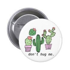 Cute Funny Cactus Button at Zazzle