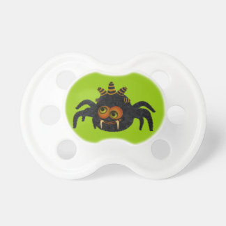 Cute Funny Candy Corn Spider Halloween Pacifier