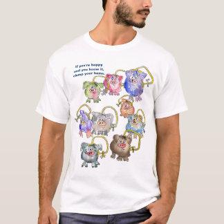 Cute Funny Cartoon Pigs Custom Tshirt