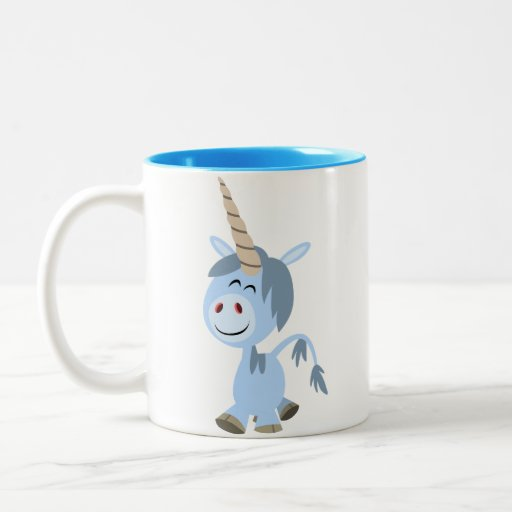 Cute Funny Cartoon Unicorn Mug