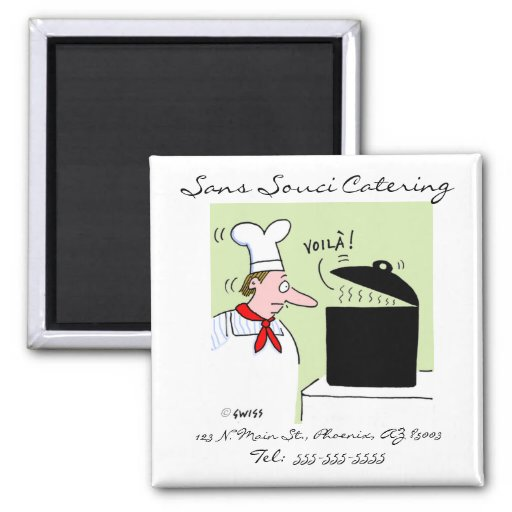 Cute Funny Catering Business Card Magnet