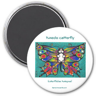 Cute Funny Catterfly Art CAT & Butterfly creature! Refrigerator Magnets