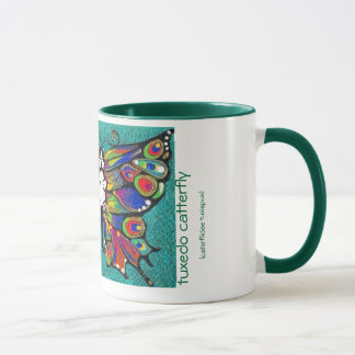 Cute Funny Catterfly Art CAT & Butterfly creature! Mug