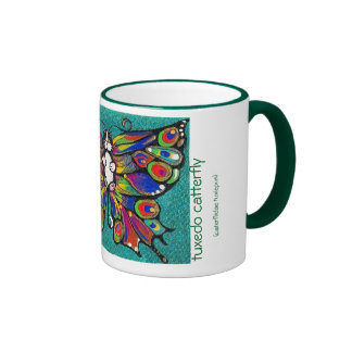 Cute Funny Catterfly Art CAT & Butterfly creature! Coffee Mugs
