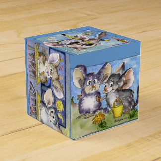 Cute Funny Chinchillas 6 Cartoons Paper Box