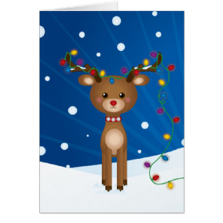 Cute, Funny Christmas Card Greeting Card