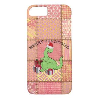 Cute funny  Christmas Santa dinosaur iPhone 7 Case