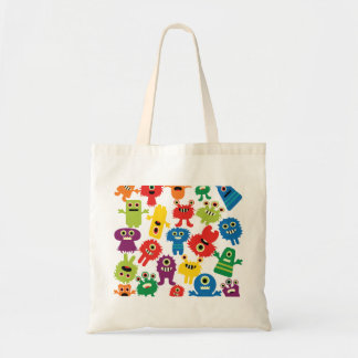 Cute Funny Colorful Monsters Pattern Bag