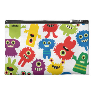 Cute Funny Colorful Monsters Pattern Travel Accessory Bag