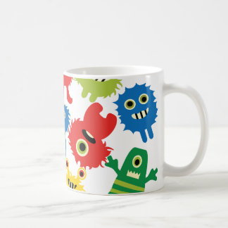 Cute Funny Colorful Monsters Pattern Coffee Mug
