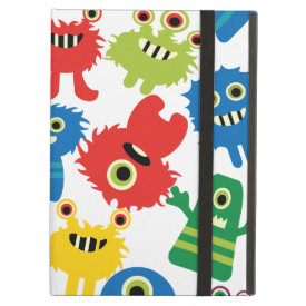 Cute Funny Colorful Monsters Pattern iPad Folio Case