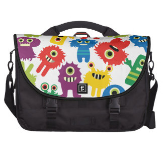 Cute Funny Colorful Monsters Pattern Computer Bag