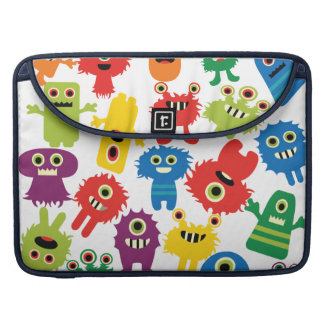 Cute Funny Colorful Monsters Pattern Sleeve For MacBook Pro