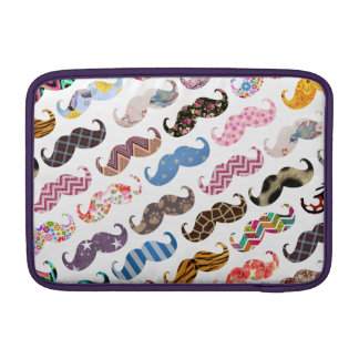 Cute Funny Colorful  Mustaches Pattern MacBook Air Sleeve