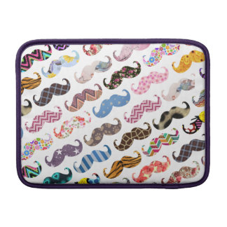 Cute Funny Colorful  Mustaches Pattern Sleeve For MacBook Air
