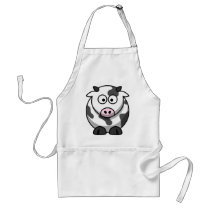 Cute Funny Cow Adult Apron