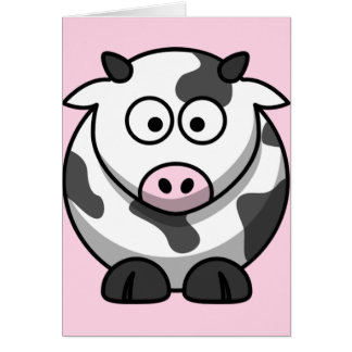 Cute Funny Cow Cards