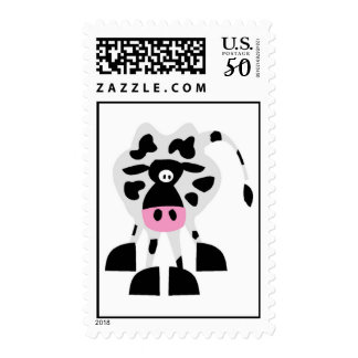 Cute Funny Cow Postage Stamp