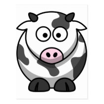 Cute Funny Cow Postcard