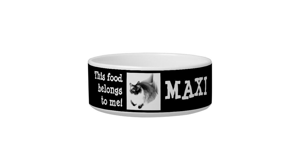 Cute Funny Custom Pet Photo & Pet Name Bowl | Zazzle com