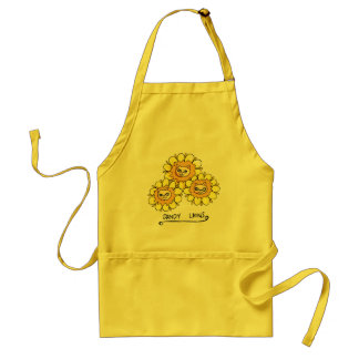 Cute Funny Dandy Lion Drawing Yellow Apron