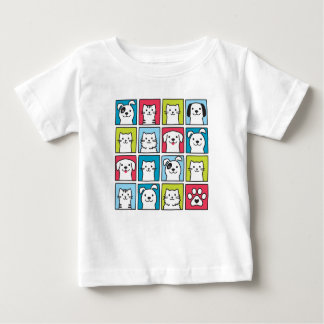 Cute, funny dogs & cats design baby T-Shirt