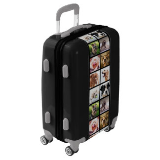 Cute & Funny Dogs Photo Collage luggage
