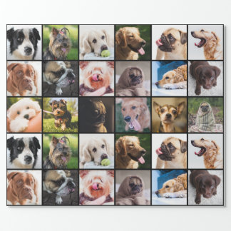 Cute & Funny Dogs Photo Collage wrapping paper